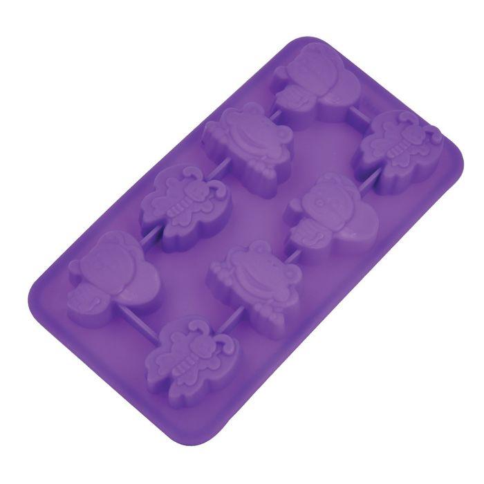 Форма для льда «Фауна», размер 19,5х10,5х2,5 см