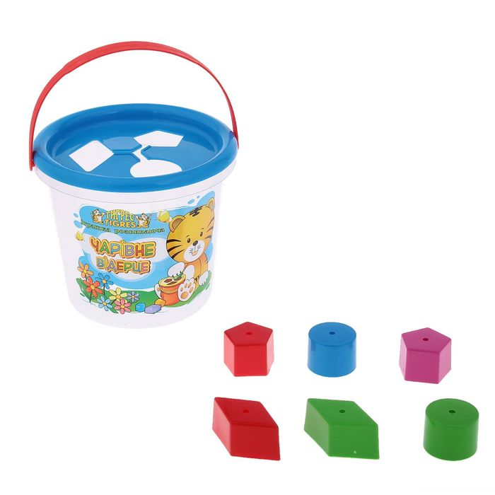 Развивающая игрушка с сортером «Волшебное ведёрко», 8 элементов, цвета МИКС