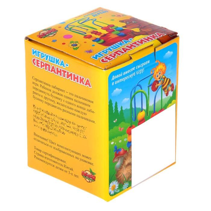 """Серпантинка - лабиринт """"Пчелка"""", 2 завитка"""