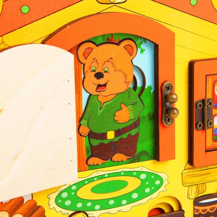 """Театр настольный, с элементами бизиборда """"Три медведя"""""""