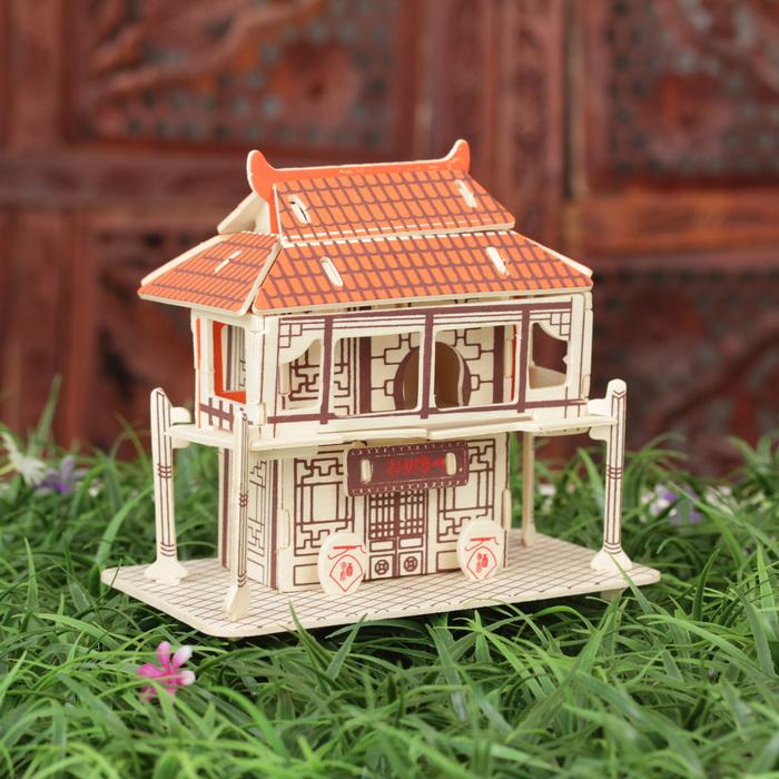 """Конструктор деревянный 3D """"Чайный дом"""""""
