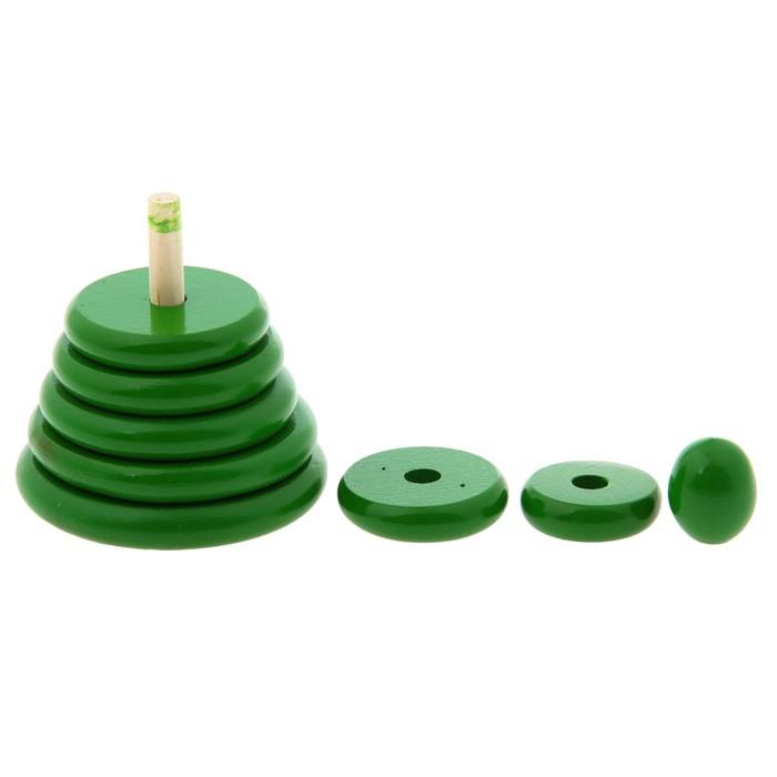Пирамидка «Зелёная», 8 деталей