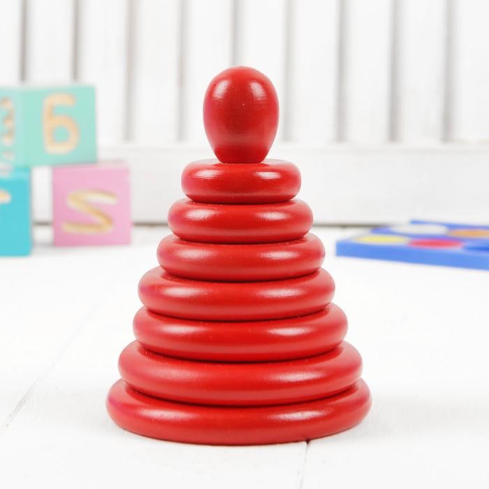 Пирамидка «Красная», 8 деталей