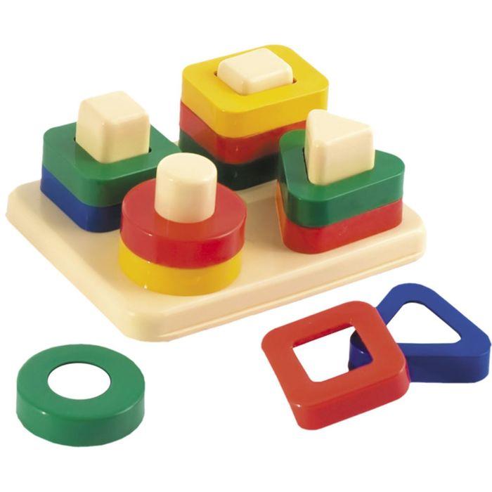 Дидактическая игрушка «Весёлые фигурки»