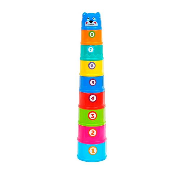 Развивающая игрушка «Пирамидка-стаканчики: Фрукты», 9 предметов