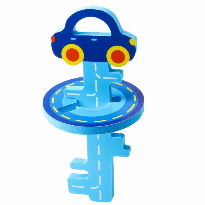 Головоломка для игры в ванне «Ключик и машинка» , цвет синий