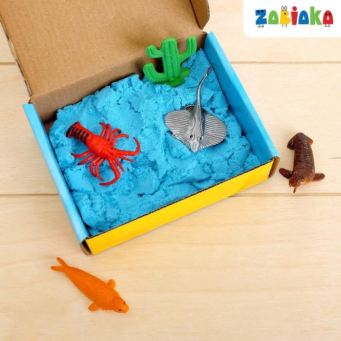 Развивающий набор: животные и кинетический песок «Морские обитатели»