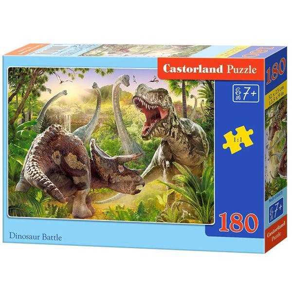 Пазлы Castorland Битва динозавров, 180 элементов