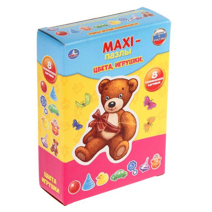 Макси-Пазл «Цвета. Игрушки», 20 элементов