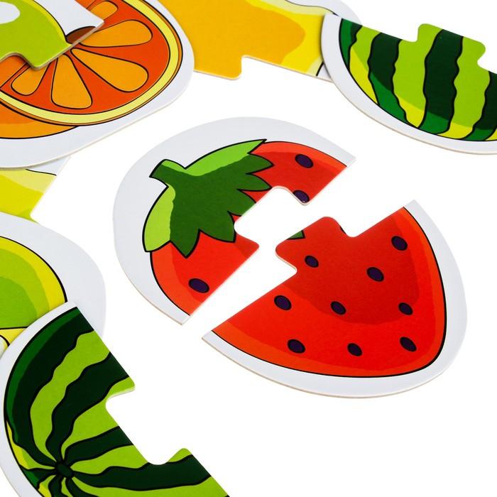 Напольный пазл-мозаика «Фрукты и ягоды» (Baby Step) (малые)