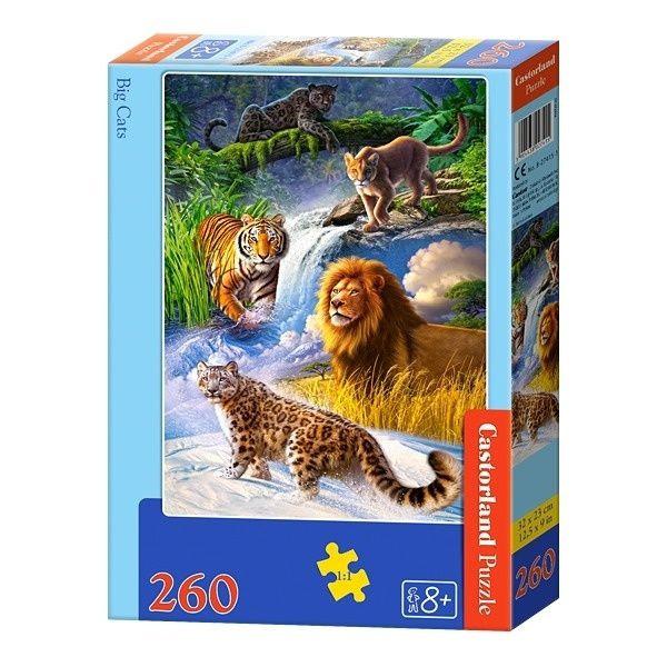 Пазлы Castorland Большие кошки, 260 элементов