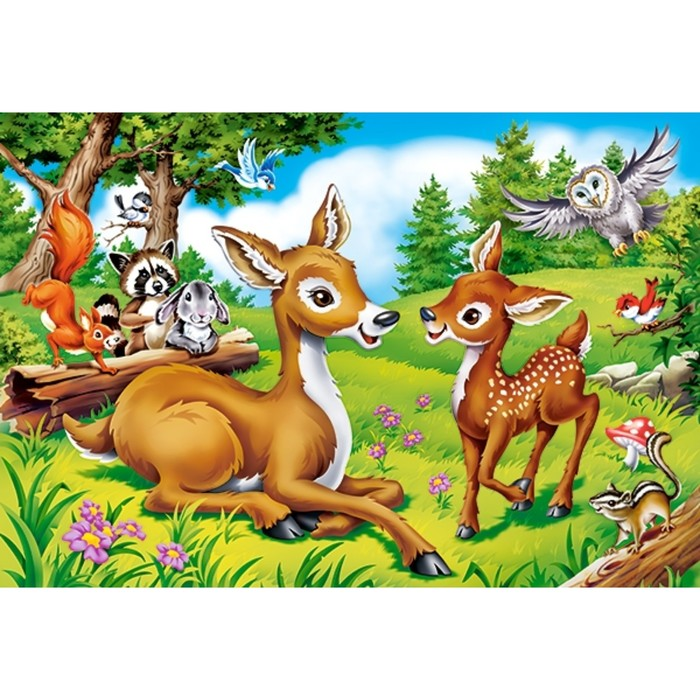 Макси-пазл 40 элементов «Маленький олень»