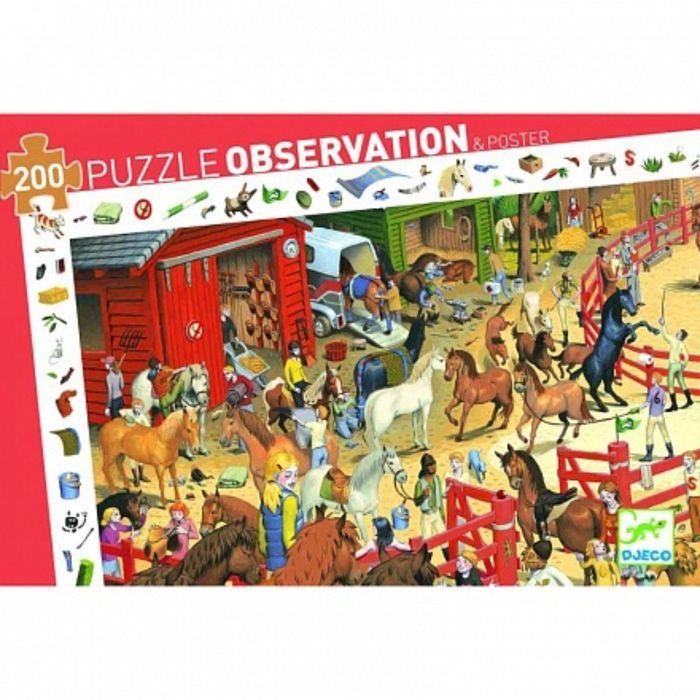 Пазл и игра на наблюдательность «Скачки», 200 деталей