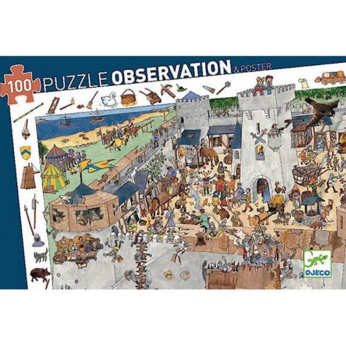 Пазл и игра на наблюдательность «Замок-форт», 100 деталей
