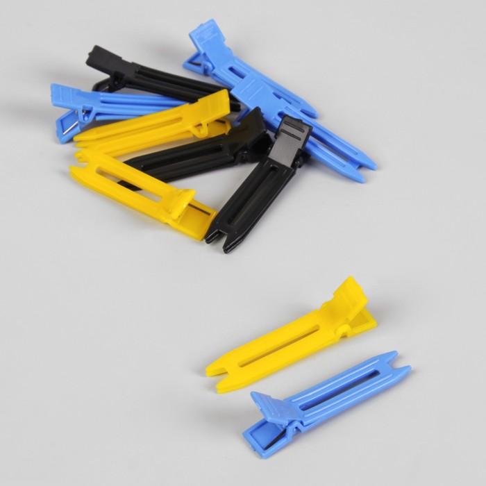 Зажимы для волос, 4,5(±1) см, 10 шт, цвет МИКС