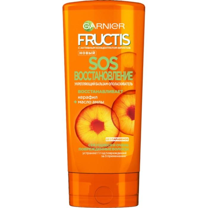 Бальзам для волос Fructis «SOS Восстановление», укрепляющий, для секущихся и очень повреждённых волос, 200 мл