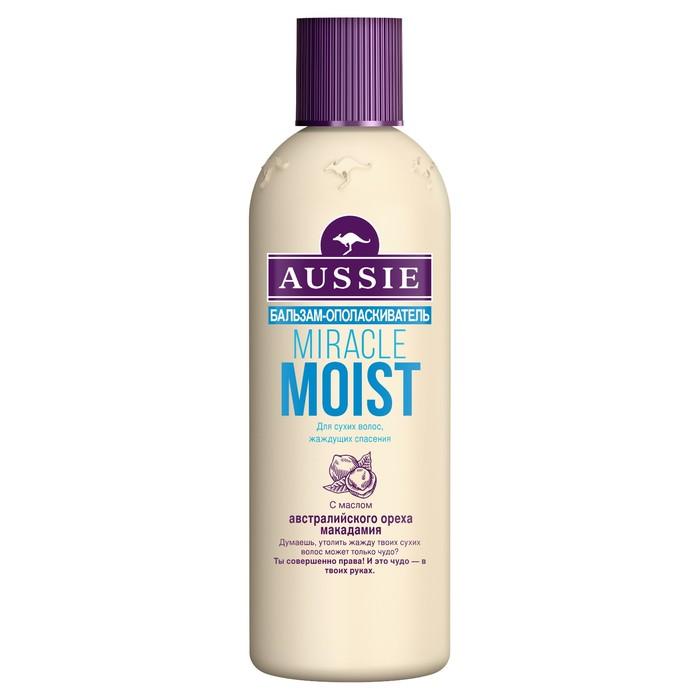 Бальзам-ополаскиватель Aussie Miracle Moist для сухих и поврежденных волос, 250 мл
