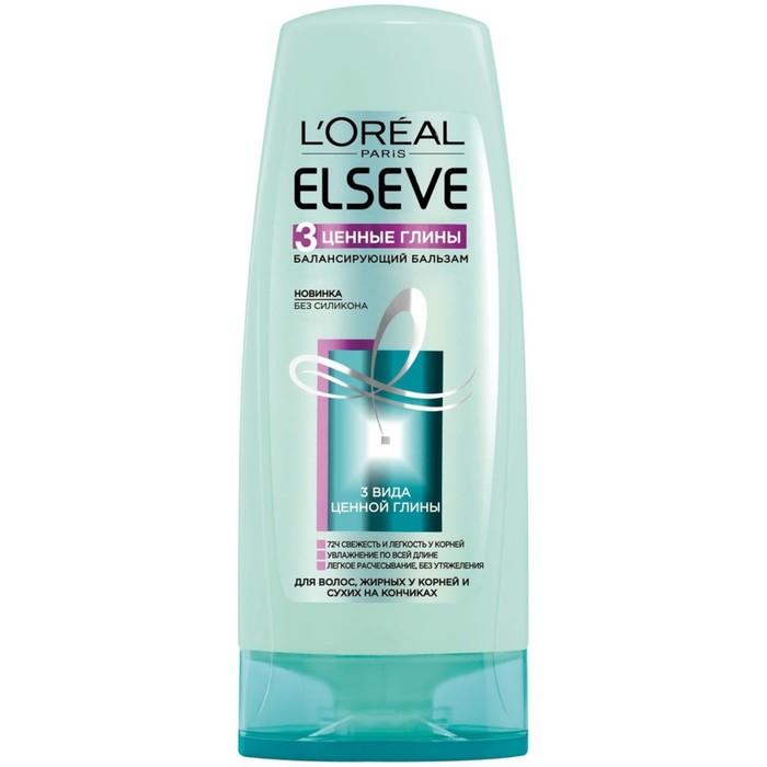Балансирующий бальзам L'Oréal Paris Elseve, для жирных у корней и сухих на кончиках волос, 400 мл