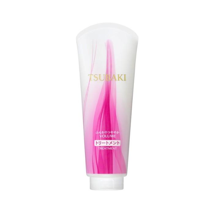 Концентрированный бальзам-уход для волос Shiseido Tsubaki Volume для придания объёма с маслом камелии, 180 мл