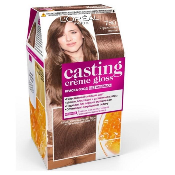 Краска для волос L'Oreal Casting Creme Gloss, без аммиака, тон 780, Ореховый мокко
