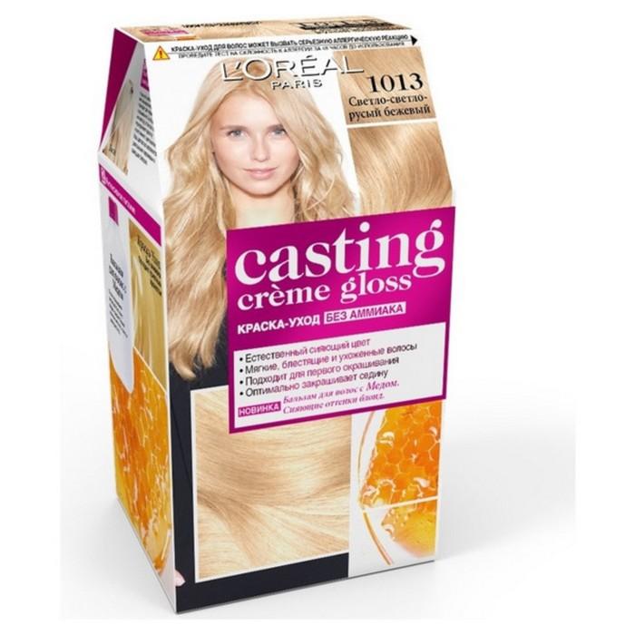 Краска для волос L'Oreal Casting Creme Gloss, 1013, светло-светло-русый бежевый