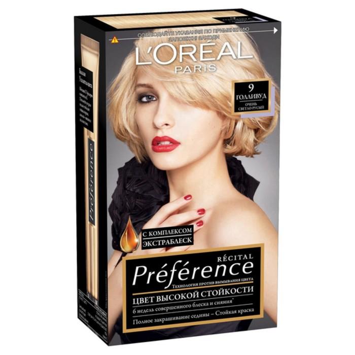 """Краска для волос L'Oreal Preference, 9, """"Голливуд"""""""