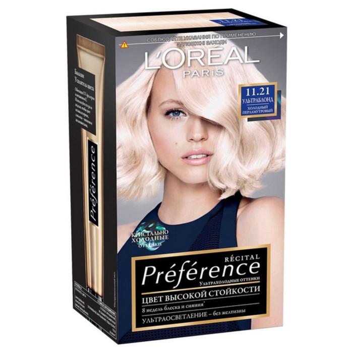 Краска для волос L'Oreal Preference ,11.21, перламутровый ультраблонд