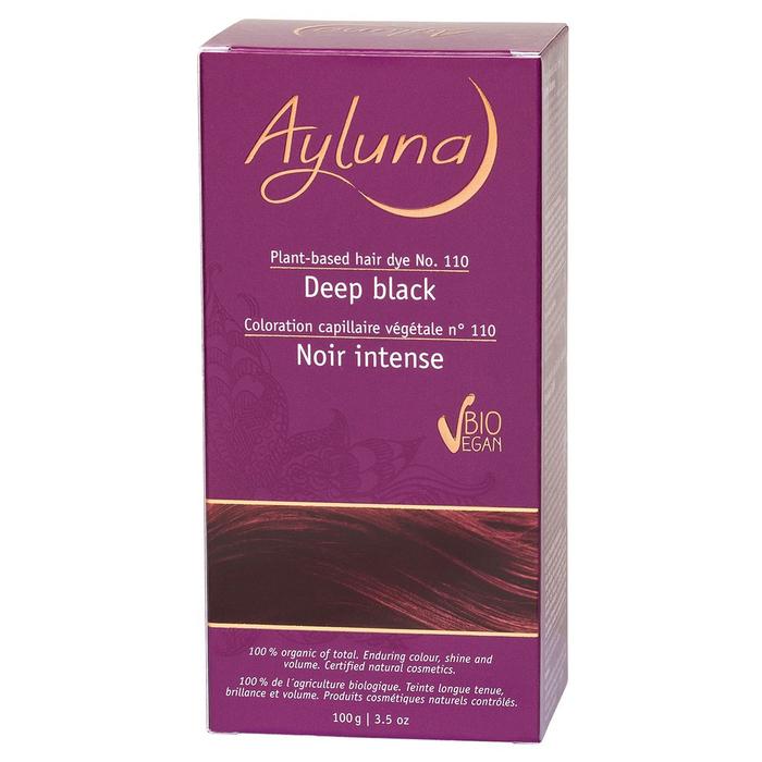 Краска для волос Ayluna, растительная, оттенок 110 иссиня-черный, 100 г
