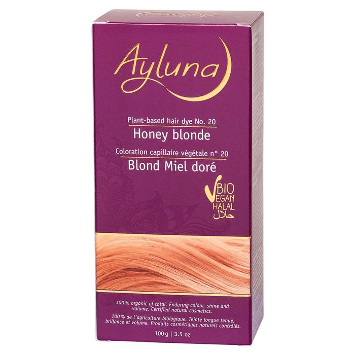 Краска для волос Ayluna, растительная, оттенок 20 медовый блондин, 100 г