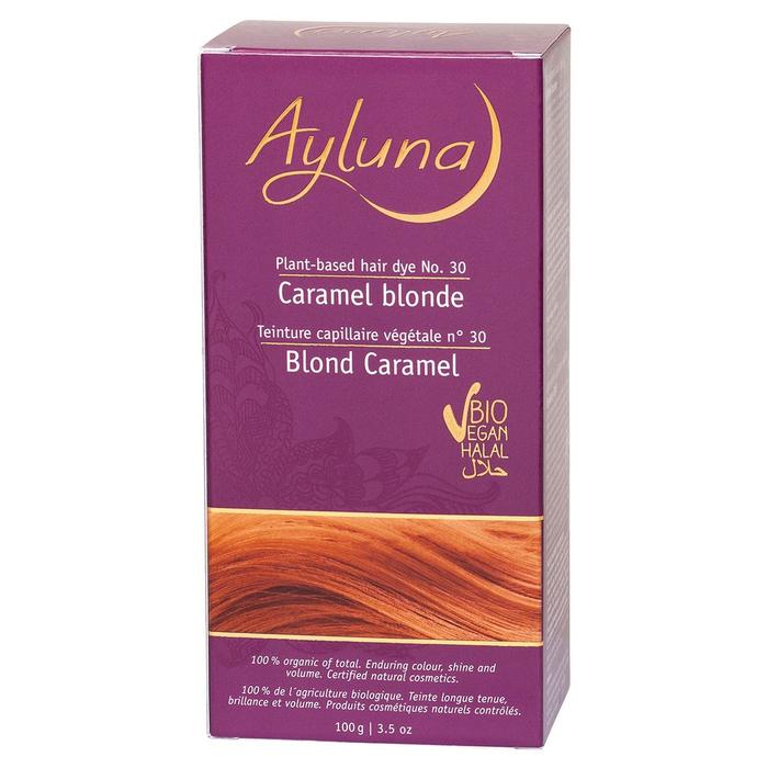 Краска для волос Ayluna, растительная, оттенок 30 карамельный блондин, 100 г