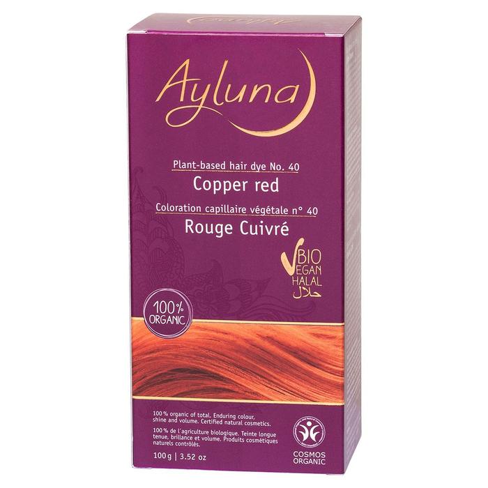 Краска для волос Ayluna, растительная, оттенок 40 медный красный, 100 г