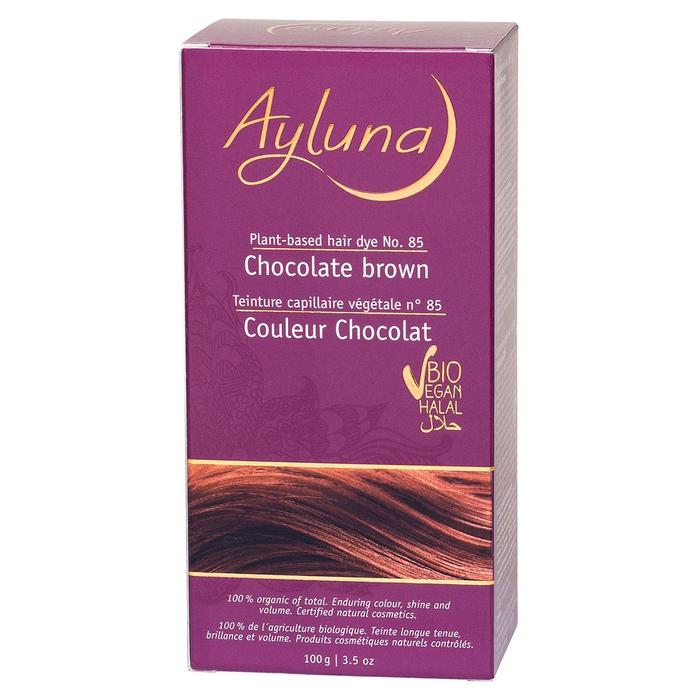 Краска для волос Ayluna, растительная, оттенок 85 шоколадный коричневый, 100 г
