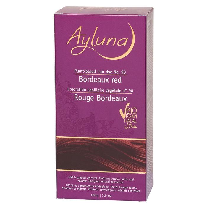 Краска для волос Ayluna, растительная, оттенок 90 бордо-красный, 100 г