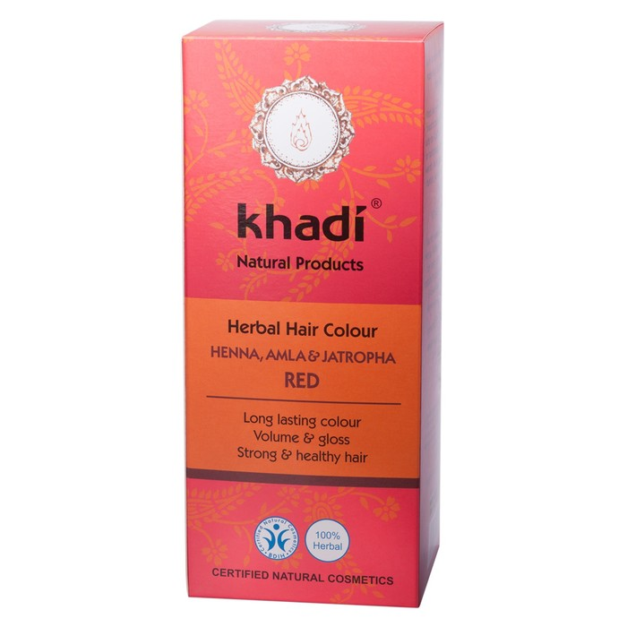 Краска для волос Khadi Хна, Амла и Ятрофа, раститительная, 100 г