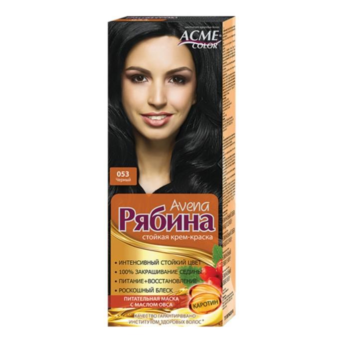 Крем-краска для волос Рябина Avena, тон 053, черный