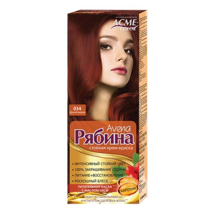 Крем-краска для волос Рябина Avena, тон 034, дикая вишня