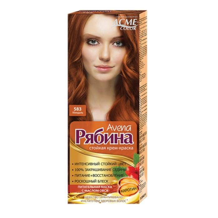 Крем-краска для волос Рябина Avena, тон 583, миндаль
