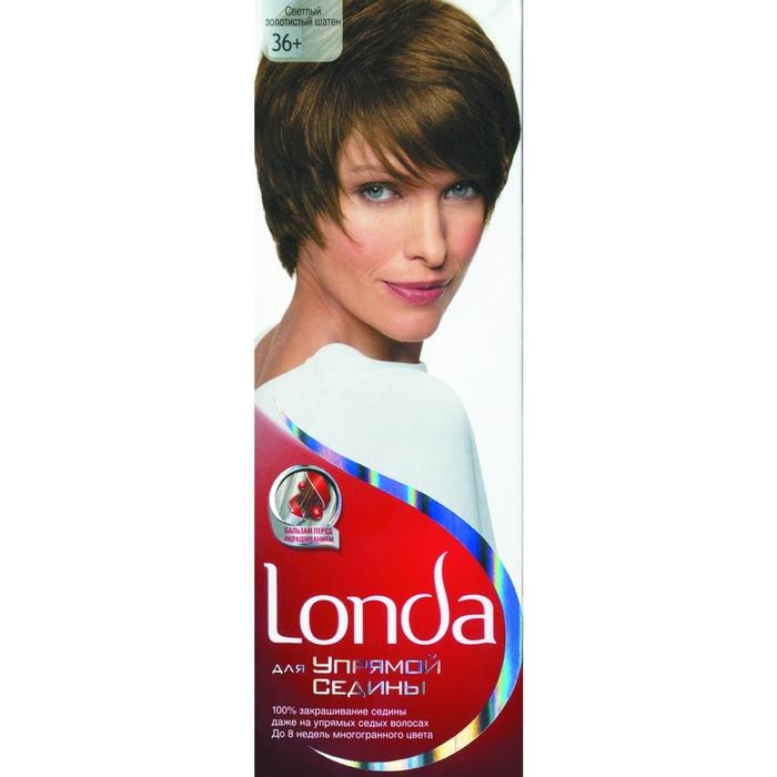 """Крем-краска для волос Londa """"Для упрямой седины"""", светлый золотистый шатен, 60 мл"""