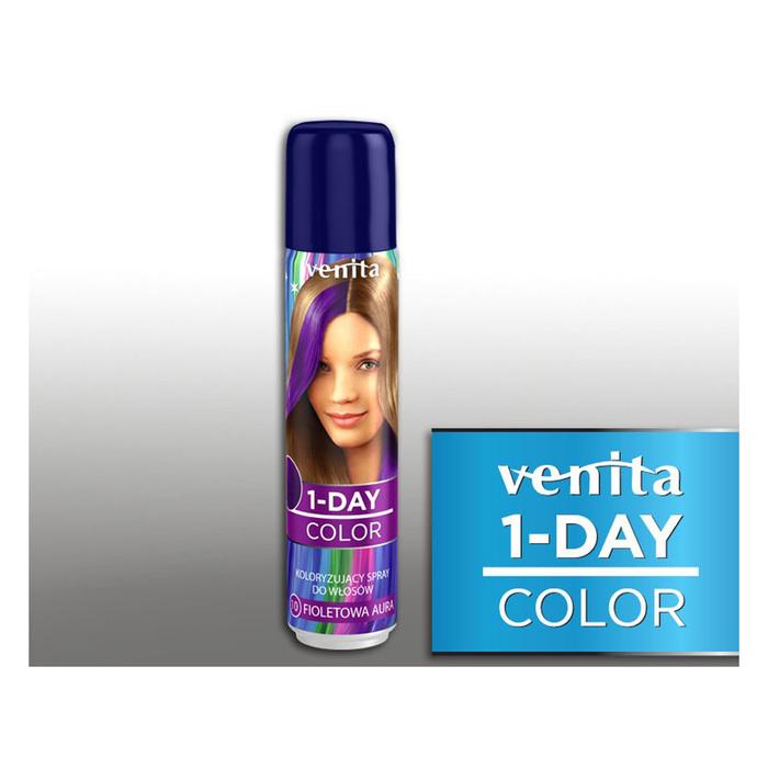 Оттеночный спрей для волос 1-day color, 10 фиолетовый, 50 мл