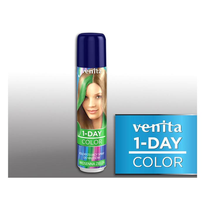 Оттеночный спрей для волос 1-day color, 03 весенняя зелень, 50 мл