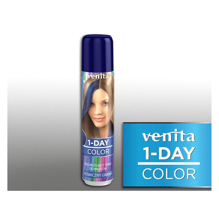 Оттеночный спрей для волос 1-day color, 05 космическая синь, 50 мл