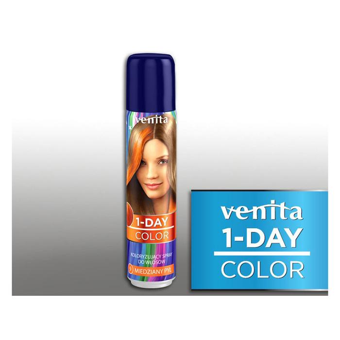Оттеночный спрей для волос 1-day color, 09 медный, 50 мл