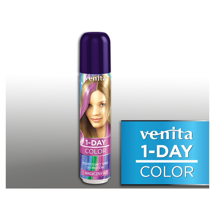 Оттеночный спрей для волос 1-day color, 13 магический розовый, 50 мл