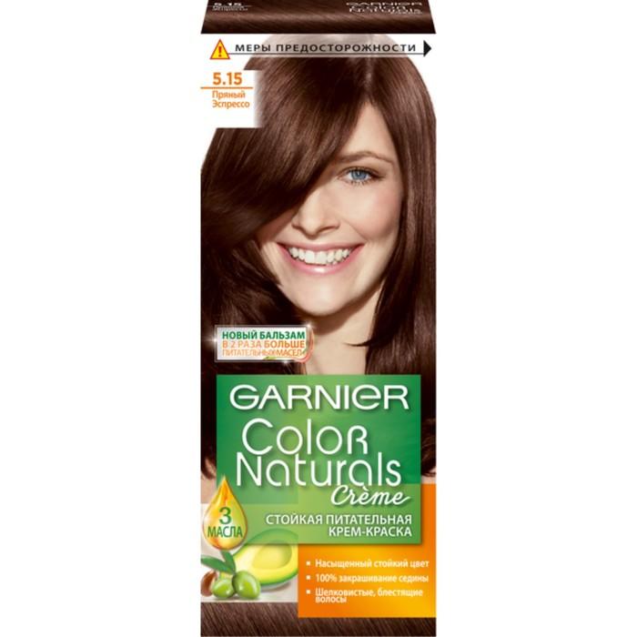 Краска для волос Garnier Color Naturals, тон 5,15, пряный эспрессо