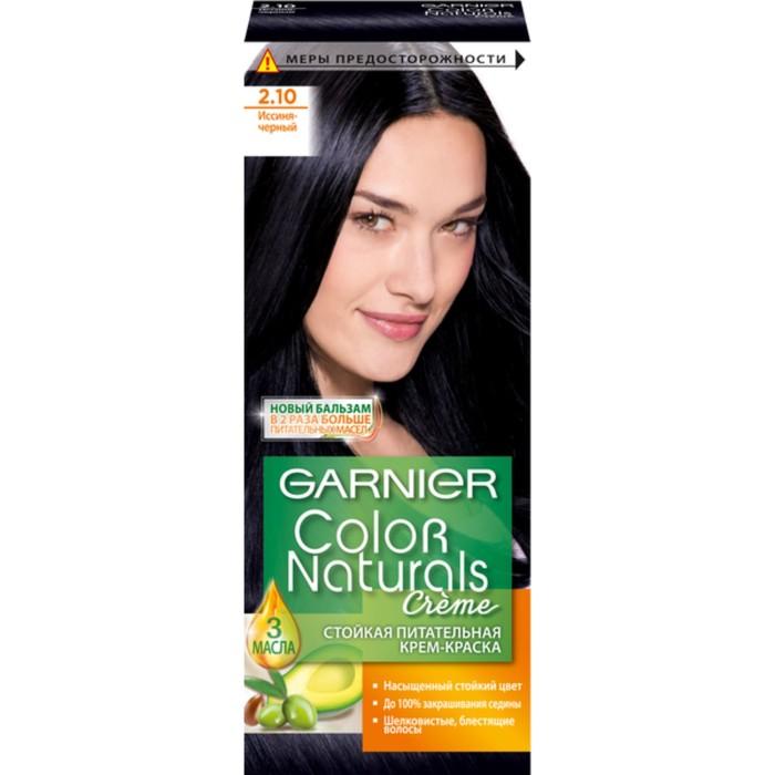 Краска для волос Garnier Color Naturals, тон 2.10, иссиня-чёрный