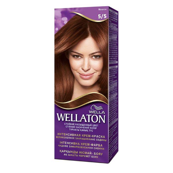 "Крем-краска Wellaton ""Махагон 5/5"", 60 мл"