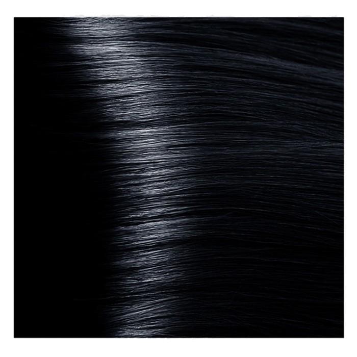 Крем-краска для волос Kapous с гиалуроновой кислотой, 1.1 Иссиня-черный, 100 мл