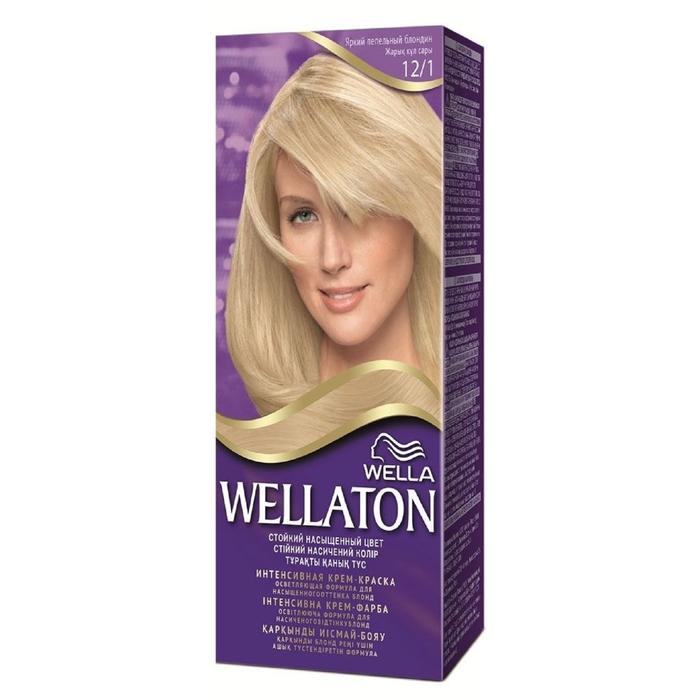 """Крем-краска Wellaton """"Яркий пепельный блондин 12/1"""", 60 мл"""
