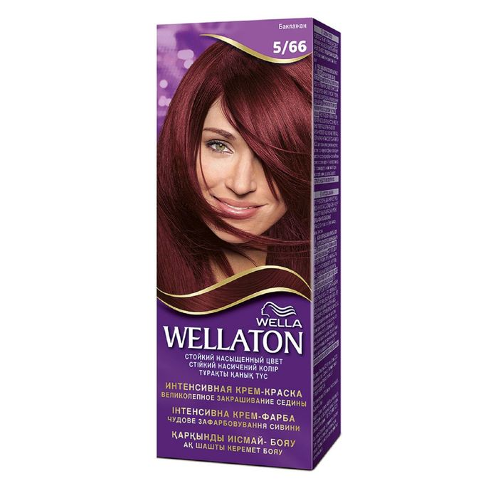 "Крем-краска Wellaton ""Баклажан 5/66"", 60 мл"