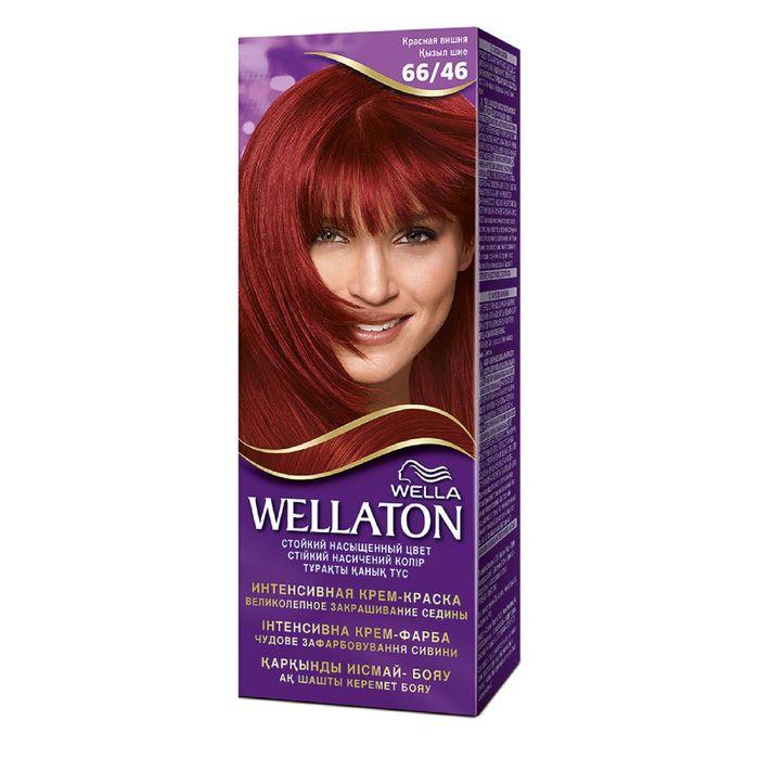 """Крем-краска Wellaton """"Красная вишня 6/46"""", 60 мл"""